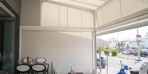 Proyecto restaurante toldo louvergarden