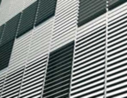 Celosías de aluminio con marco fijo familia
