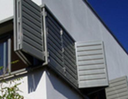 Celosías de PVC con marco corrugable familia