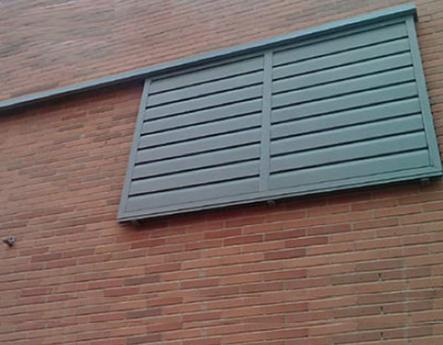 Celosías de PVC con marco corredero