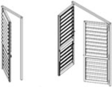 Celosías de PVC con marco practicable