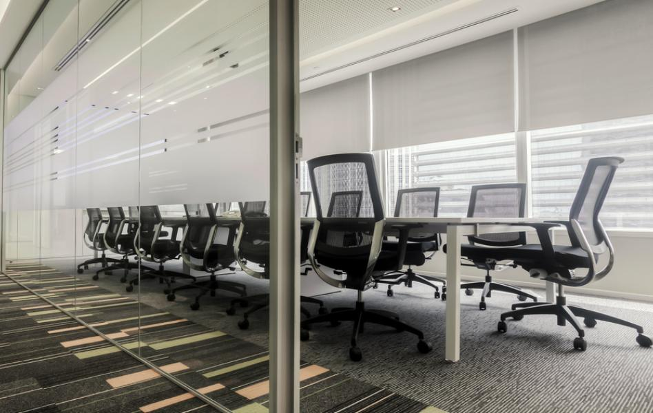 Cortinas interiores para oficina
