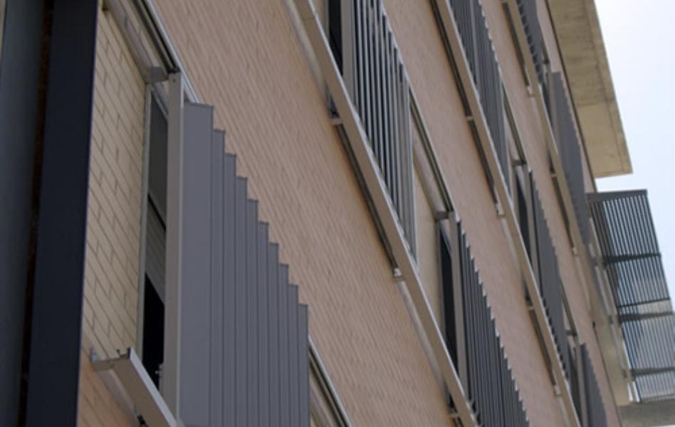 Edificios de viviendas celosías de aluminio con marcos correderos